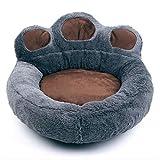 RuiHuang Haustier Hund Katze Warmes Bett Winter Schöne Hundebett Weiches Material Pet Nest Nette Pfote Zwinger Für Katze Welpen Sofa Hundebetten Grau S 40 cm X 45 cm