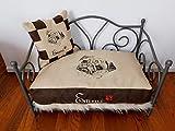 LunaChild Hundebett Mops 1 Schlafplatz viele Rassen und Farben Hunderassen Wunschname Hundekorb Metallbett Name Hundesofa viele Rassen Vintage